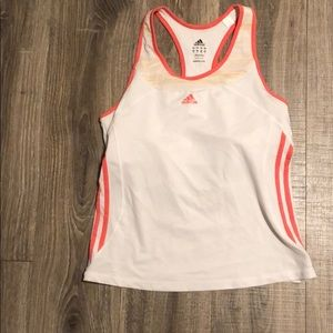 Adidas athletic tank with built in bra